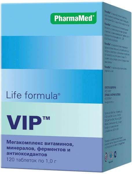 Life Formula VIP Мегакомплекс витаминов и минералов, 1 г, таблетки, 120шт.
