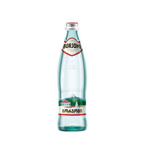 Вода минеральная Боржоми, лечебно-столовая газированная, в стеклянной бутылке, 0.5 л, 1шт.