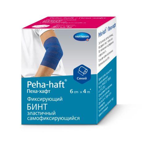 Peha-haft Бинт самофиксирующийся, 6смх4м, синего цвета, 1шт.