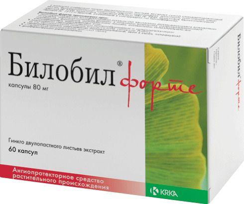 Билобил форте, 80 мг, капсулы, 60шт.