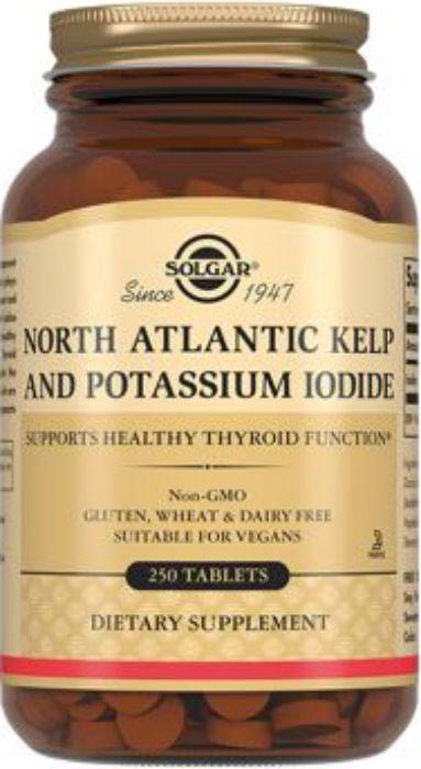 Solgar Йод из бурых водорослей и йодида калия, таблетки, 250шт.