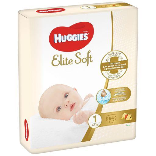 Huggies Elite Soft Подгузники детские , р. 1, 3-5 кг, 84шт.