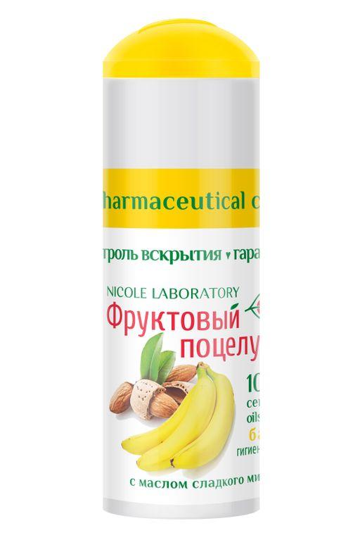 Фруктовый поцелуй Помада губная гигиеническая, помада, банан, 3.5 г, 1шт.
