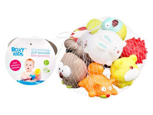 Roxy-kids Набор игрушек для ванны Лесные жители 6 мес+, набор 9 шт., 1шт.