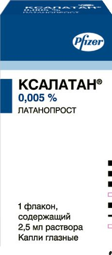 Ксалатан, 0.005%, капли глазные, 2.5 мл, 1шт.