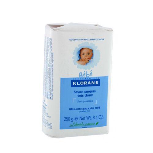 Klorane Bebe Детское мыло с экстрактом календулы, мыло детское, 250 г, 1шт.