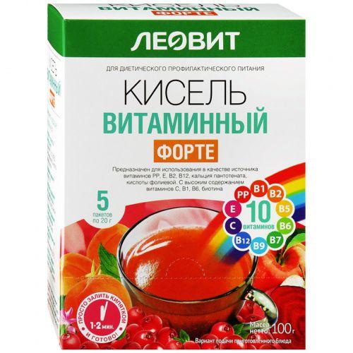 Кисель витаминный форте, 20 г, 5шт.