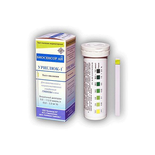 Уриглюк-1 полоски для определения глюкозы в моче, тест-полоска, 50шт.