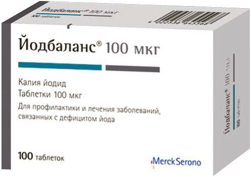 Йодбаланс, 100 мкг, таблетки, 100шт.