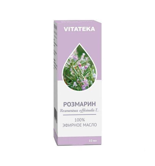 Витатека Масло Розмарина эфирное, масло эфирное, 10 мл, 1шт.