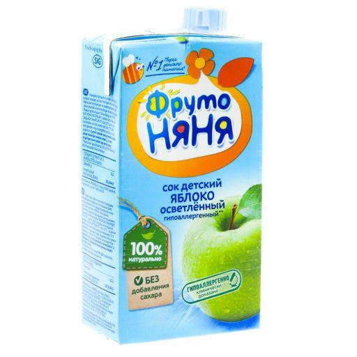 Фрутоняня сок осветленный Яблоко, сок, без сахара, 500 мл, 1шт.