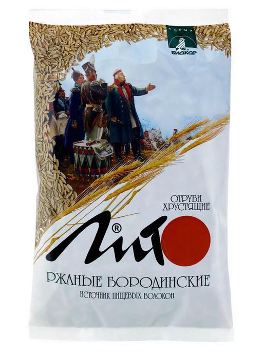 Лито Отруби хрустящие ржаные бородинские, гранулы, 200 г, 1шт.