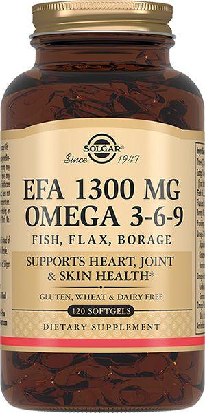 Solgar Комплекс жирных кислот 1300 мг омега 3-6-9, 1300 мг, капсулы, 120шт.