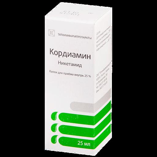 Кордиамин, 25%, капли для приема внутрь, 25 мл, 1шт.