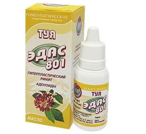 Эдас-801 Туя, масло для наружного применения, 15 мл, 1шт.