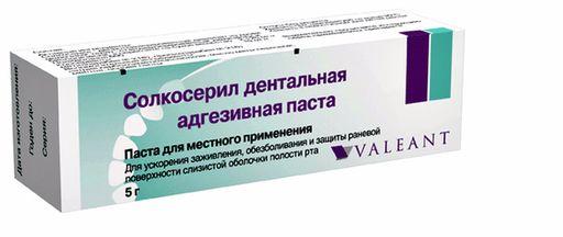 Солкосерил дентальная адгезивная паста, паста для применения в стоматологии, 5 г, 1шт.