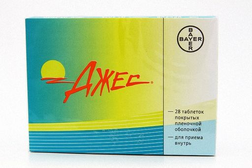 Джес, 3 мг+0.02 мг, таблетки, покрытые пленочной оболочкой, 28шт.