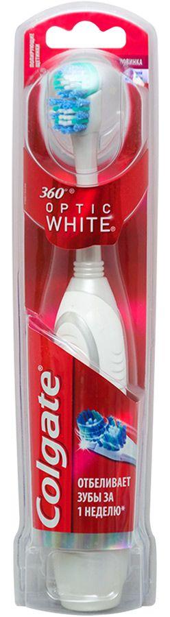 Colgate 360 Optic White Зубная щетка электрическая средняя, щетка зубная, 1шт.
