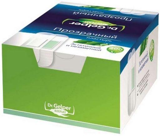 Пластыри медицинские с алоэ вера Dr. Gelper Aloeplast, пластырь медицинский, прозрачные, 200шт.