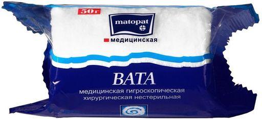 Bella Cotton Вата хлопковая нестерильная Matopat, 50 г, 1шт.
