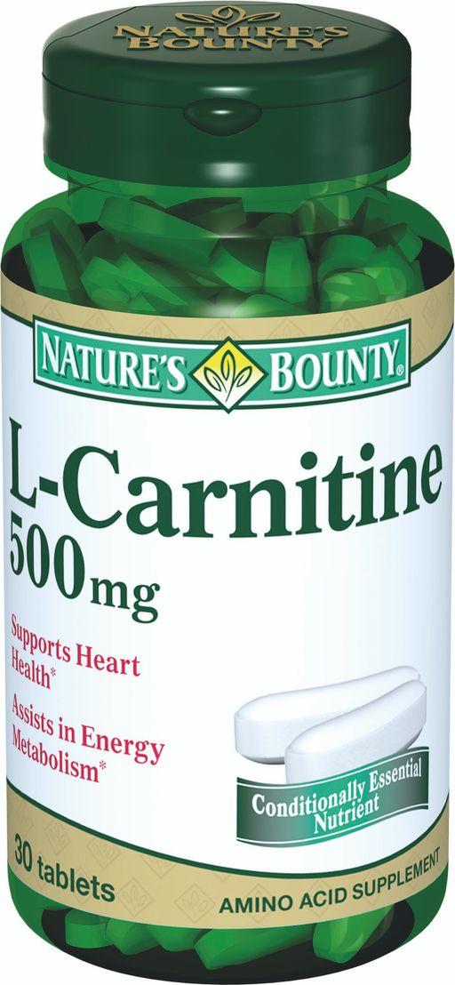 Natures Bounty L-Карнитин 500 мг, 500 мг, таблетки, 30шт.