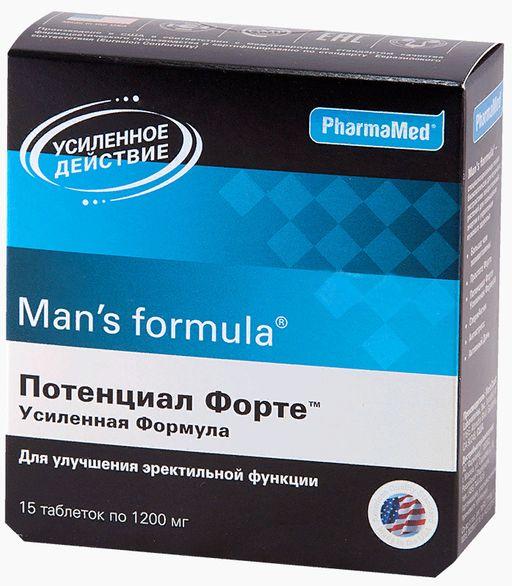 Man's formula Потенциал Форте Усиленная формула, 1200 мг, таблетки, 15шт.