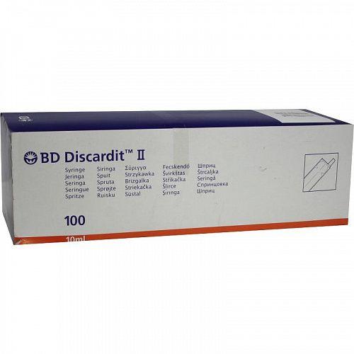 Шприц двухкомпонентный инъекционный одноразовый BD Diskardit, 10 мл, 100шт.
