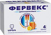 Фервекс, 500 мг+25 мг+200 мг, порошок для приготовления раствора для приема внутрь, лимонный с сахаром, 13.1 г, 4шт.