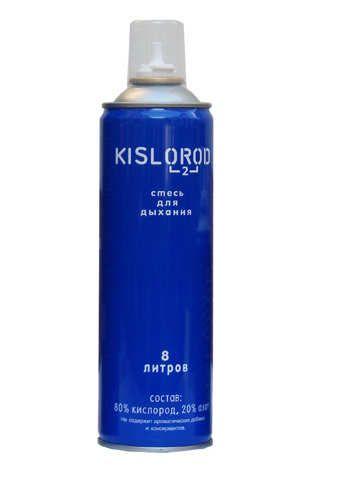 Кислородный баллончик медицинский индивидуальный K8L, кислород 80%, азот 20%, 8 л, 1шт.