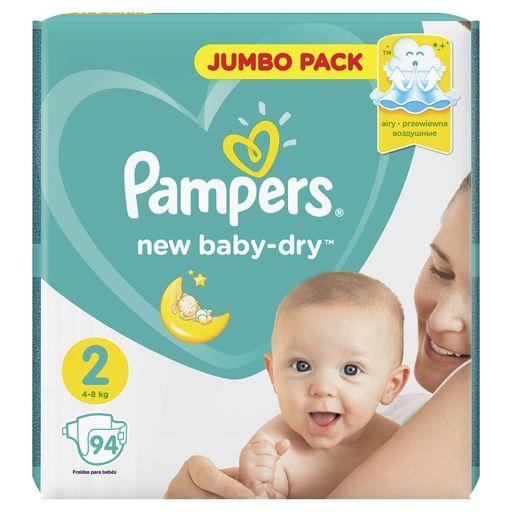 Pampers New baby-dry Подгузники детские, р. 2, 4-8 кг, 94шт.