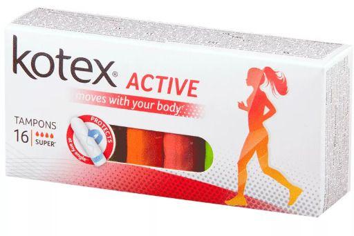 Kotex Active Super тампоны женские гигиенические, 16шт.