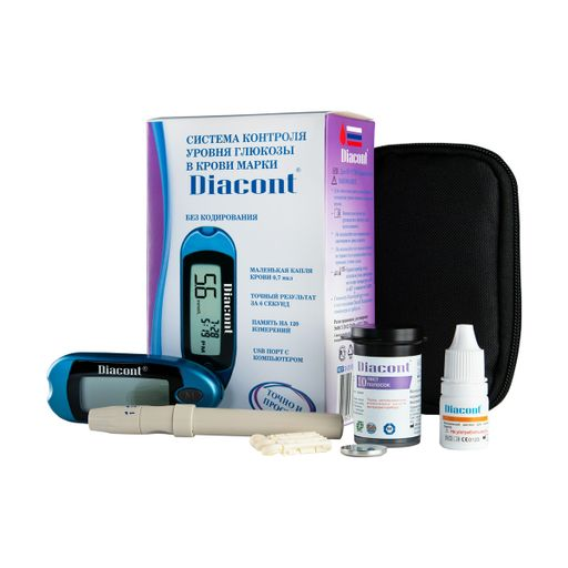 Diacont глюкометр, набор, 1шт.