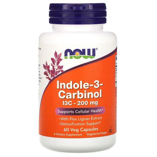 NOW Indole-3-Carbinol Индол-3-карбинол, 200 мг, капсулы, 60шт.