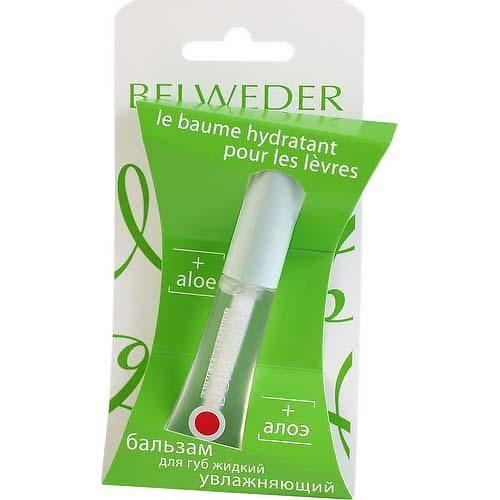 Belweder Бальзам для губ жидкий с экстрактом алоэ, увлажняющий, 7 мл, 1шт.