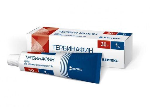 Тербинафин, 1%, крем для наружного применения, 30 г, 1шт.