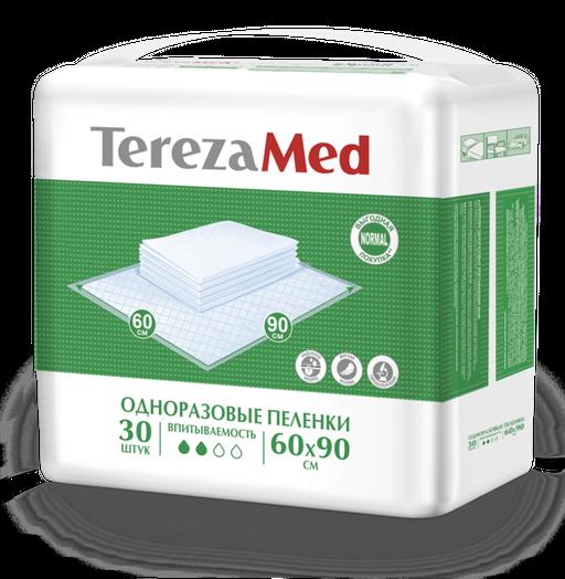 TerezaMed Normal пеленки одноразовые, 90 смx60 см, Normal (2 капли), 30шт.