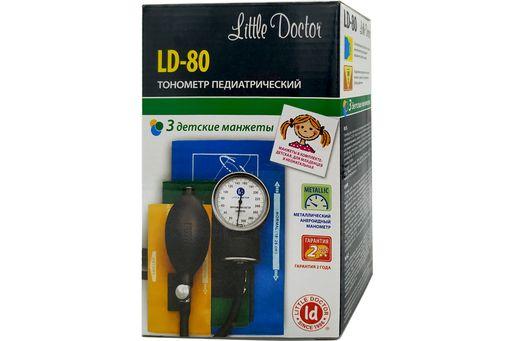 Тонометр механический Little Doctor LD-80 педиатрический, манжеты: 7-12см, 11-19см, 18-26см, 3 детские манжеты, 1шт.