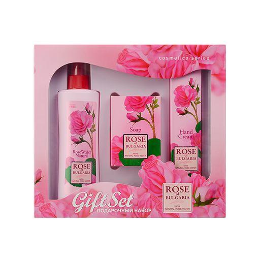 My Rose of bulgaria набор подарочный №2, набор, розовая вода 230мл + мыло 100г + крем для рук 75мл, 1шт.