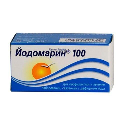 Йодомарин 100, 100 мкг, таблетки, 100шт.