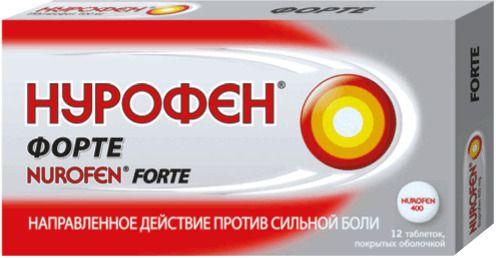 Нурофен форте, 400 мг, таблетки, покрытые оболочкой, 12шт.
