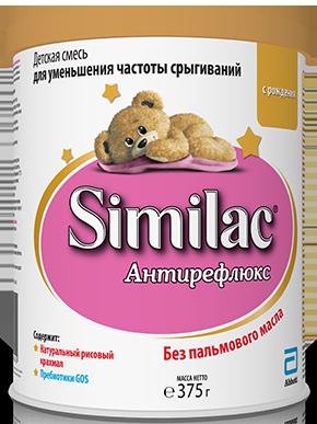 Similac Антирефлюкс, для детей с рождения, смесь молочная сухая, 375 г, 1шт.