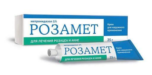 Розамет, 1%, крем для наружного применения, 25 г, 1шт.