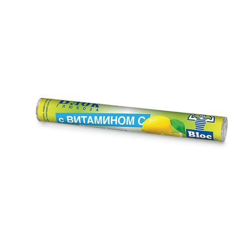 Блок Глюкоза с витамином C, таблетки, с ароматом лимона, 18шт.