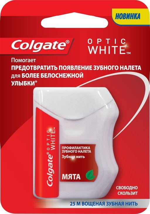 Colgate Оptic White Зубная нить, 25 м, нити зубные, 1шт.