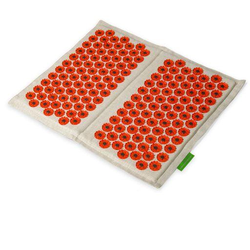 Иппликатор Кузнецова Тибетский для ступней на мягкой подложке, красный (для чувствительной кожи, магнитный), 1шт.