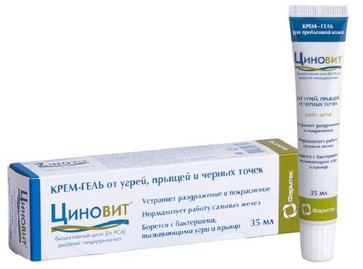 Циновит Крем-гель для проблемной кожи, крем-гель, 35 мл, 1шт.
