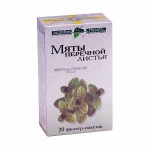 Мяты перечной листья, сырье растительное-порошок, 1.5 г, 20шт.