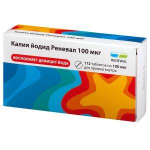 Калия йодид Реневал, 100 мкг, таблетки, 112шт.