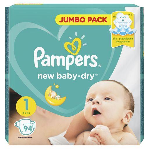 Pampers New baby-dry Подгузники детские, р. 1, 2-5кг, 94шт.