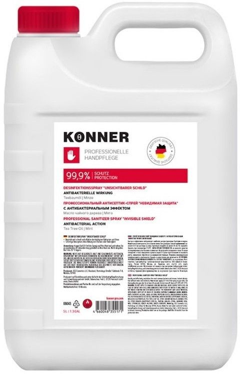 Konner гель для рук гигиенический Жидкие перчатки, с антибактериальным эффектом, 5 л, 1шт.